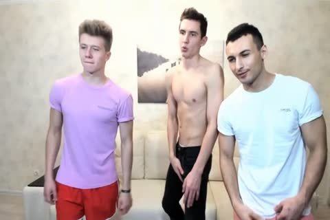 3 Russian handsome twinks With Great Round asses,admirable weenies On web camera
