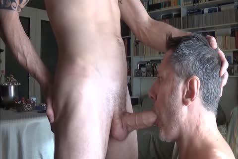 daddy Worships Feet And Sucks knob