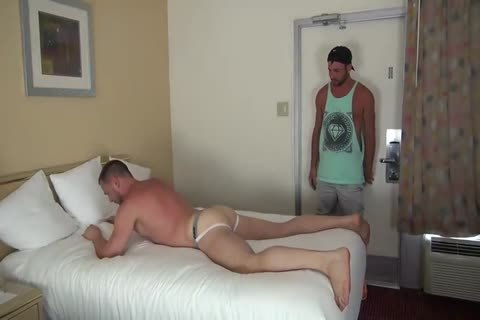 Muscle Bottom receives Team-pounded In Hotel Room