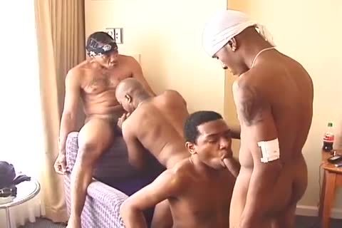 black men Turned Their bedroom For gang orgy