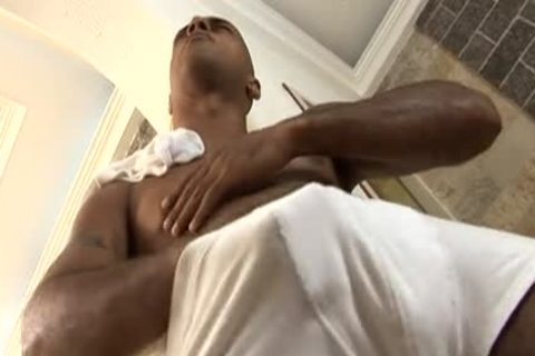 ebony boy wanking dick all day long