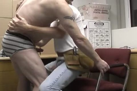 enchanting redneck office homosexual couple banging