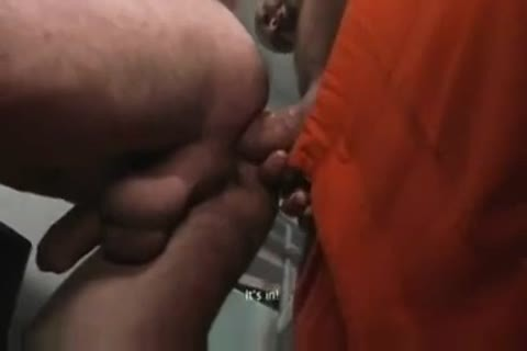 TWO hawt HUNG PRISONERS use youthful LAD unprotected