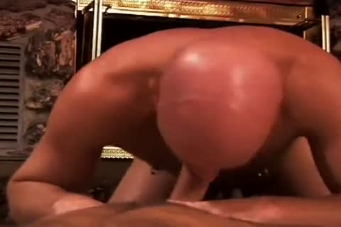 Bald muscular man receives dirty ass banging