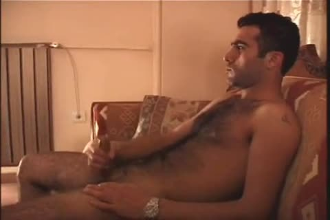 Middle Eastern hairy men jerk off