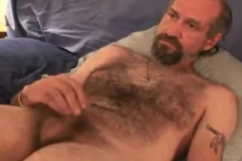 mature Bear Solo Masturbating pleasure