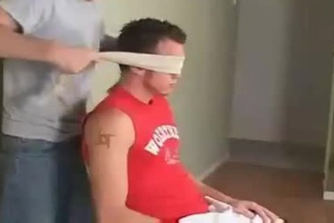 Blindfolded And blown gay Porn