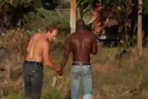 pretty Interracial homosexual boys group plowing