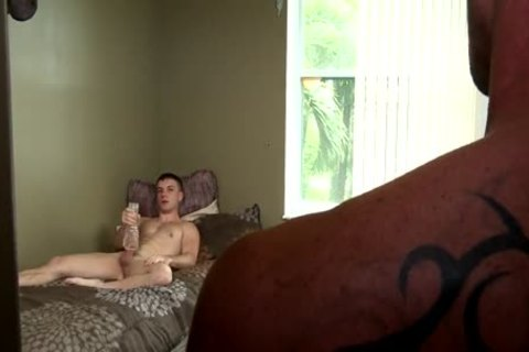 jerking off guy Caught And slamed