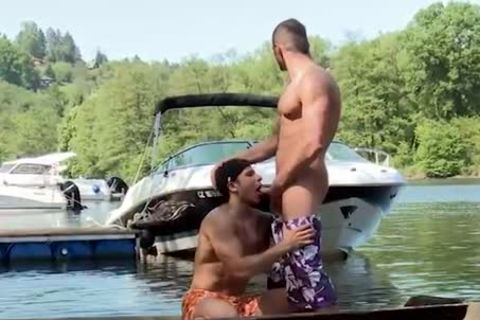 engulfing pecker And Getting plowed On A Boat