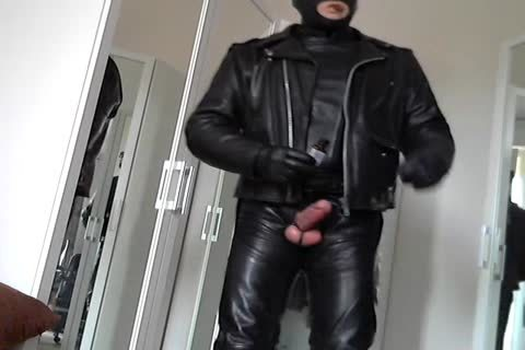 Leather Biker Rubber Poppers Masked And Plug butthole Smoke Cigare