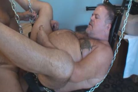 greater amount Play Party Footage, Pt 2. A hot Piggy Sub Bear (Verytwisted On Xtube) Sucks My jock (BeartoyLA) And Peterprinciple (on Bbrt) Too.  Then Verytwisted Hops In The Sling To receive Tag Team pounded By Us both And His arse receives A good p