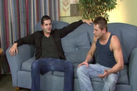 brunette hair gay Gives oral stimulation job In POV Style