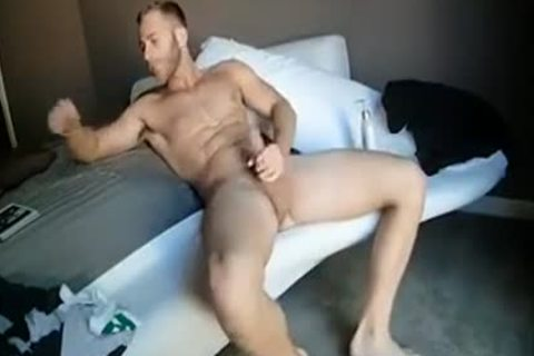 filthy Hunk Solo Masturbation