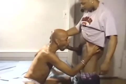 Three large Dicked dark guys Have A plow Session