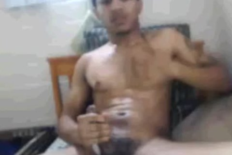 Tatted And Toned Blatino lad Masturbating In His sofa. (Slow video scene)