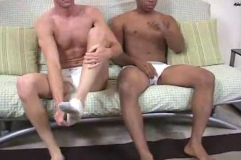 Ace & Axel Interracial wanking