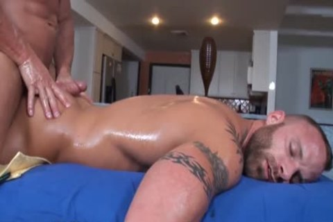 Oiled gay men fucking