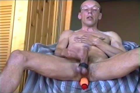 Jerk-off With A Firmly Inserted dildo Or Cucumber (with Slow Motion Version In The Second Part)