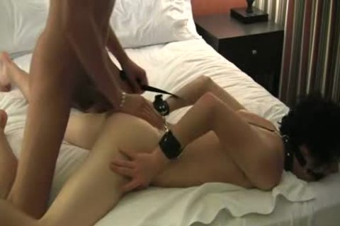 handcuffed twink gets A Creampie