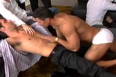 Homosexual stripper seduces a dirty hunk