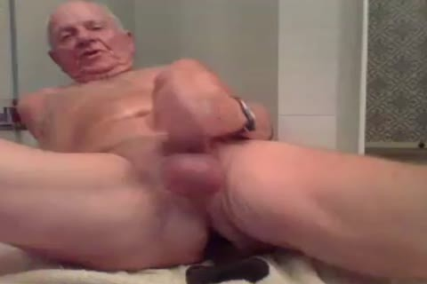 grand-dad wank wank With  A dildo In booty And sperm