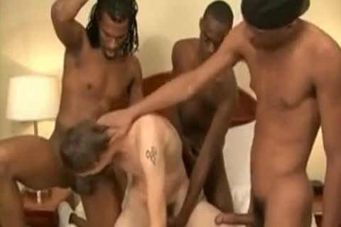 Cute Gay Twink Likes Interacial Gangbang