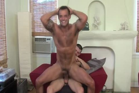 Muscly homo dude ejaculate Face