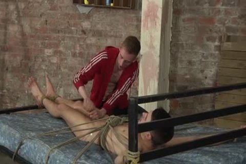 Enslaved Dmitry Osten Roped And Drained With A Slippery sperm