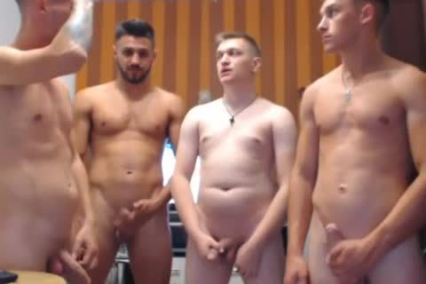 4 sexy Romanian twinks, Hard ramrods & nasty asses