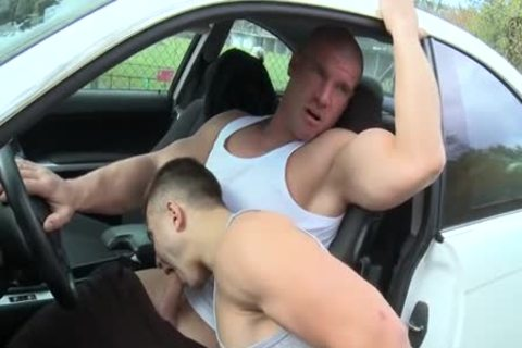 Muscle boyz Outdoor Car fuck