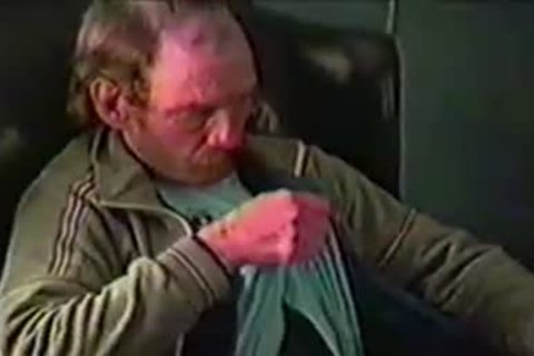 old hirsute guy Gene Jerks His Hard Prick whilst Home Alone