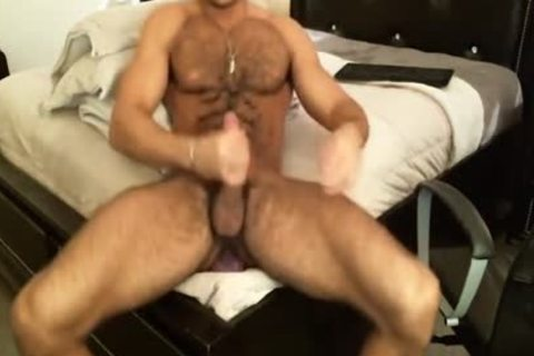 bushy Sean Zevran Dildos On web camera And Cums Twice