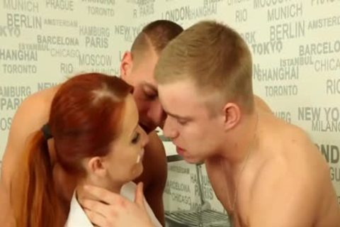 naughty bisexual males hammering With A Redhead