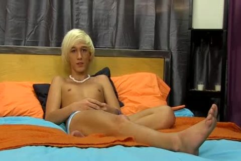 blonde twink Ryan Morrison jerking off In Front Of Camera