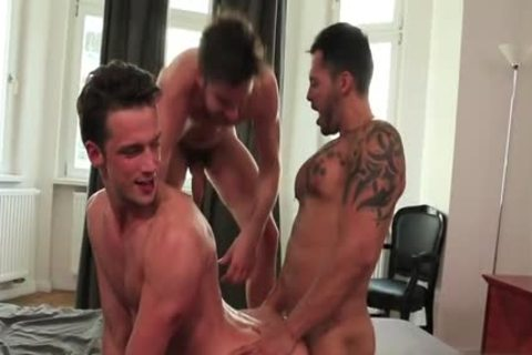 Tattoo schlong three some and ejaculation