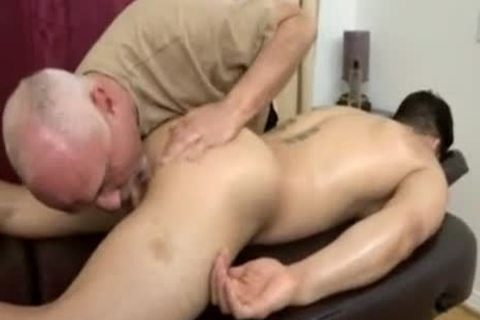 Topher Dimaggio Massage Turns Into An Dilf Oldie Grey fellow Slurping His Salami
