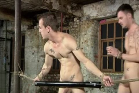 Tattoo twinks Domination With ball cream flow