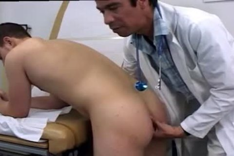 Ricky is measured and pumps his uncut overweight cock