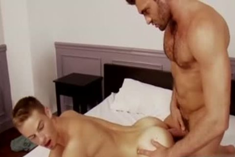 Muscle homo ass-copulation And ejaculation