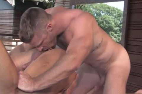 hairy Bodybuilder Outdoor Sex And ejaculation