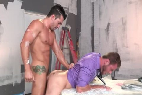 Muscle homo oral-service With ejaculation