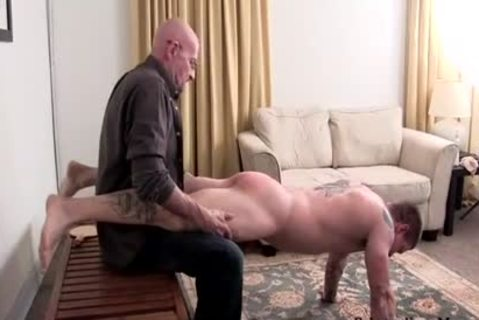 Muscle non-professional thrashing With penis juice flow