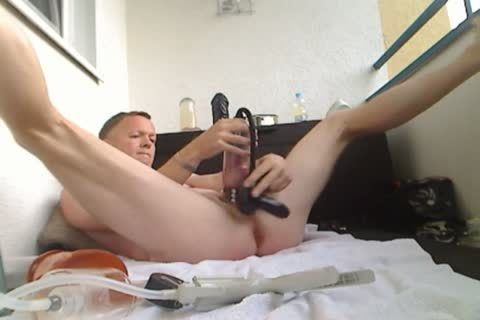 Pumping My schlong And booty, fake penis pound
