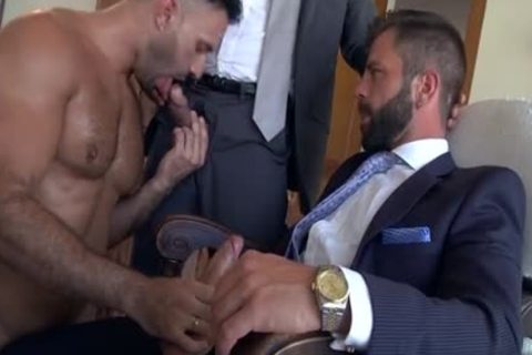 Muscle homo 3some And ejaculation