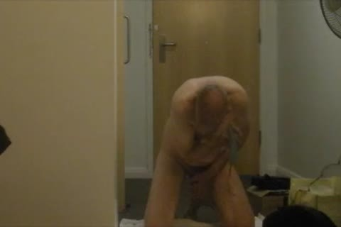 stripped, bald & Masturbated