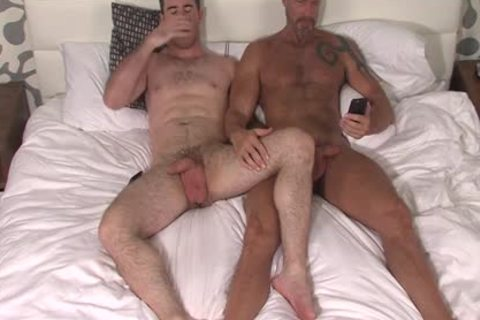 Silver Fox Dallas Steele And Clean Cut dong Matthew Bosch sperm together