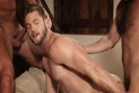 brawny threesome bare And Creampie