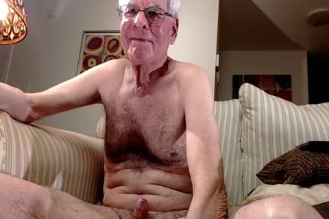 grandad jerk off On cam