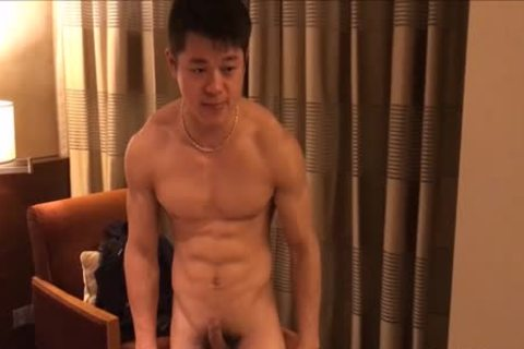 cute pumped up stud Showing Off His Muscle And 10-Pounder